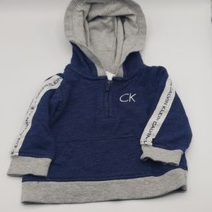 Calvin Klien Size 3-6 Month Navy and Gray Hoodie